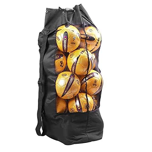 YUNYI Fußballtasche, 15 Ball Set Große Kapazität Duty Mesh Bag, für Fußball, Basketballsport, Wassersportaufbewahrung, Strandtuch