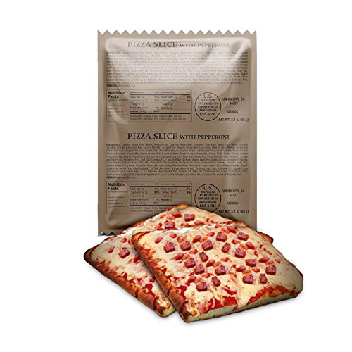 XMRE Pizza Slice with Pepperoni Pizza Slice with Delicious Mozzarella Cheese and Pepperoni (Case of 24)
