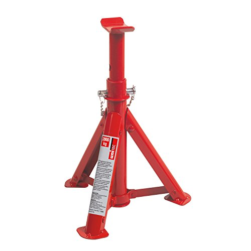 UNITEC 10899 Unterstellbock, 2 Tonnen Traglast, höhenverstellbar von 276 mm bis 363 mm