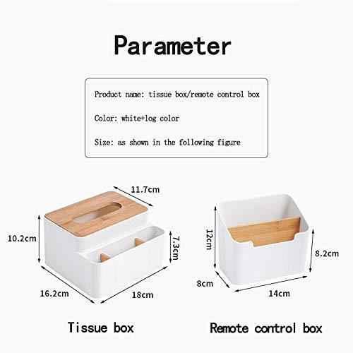 Pokrywy tkanki Papierowa ręcznik Pudełko Prostokątny salon Kreatywny Schowek Bath Salon Kreatywny Sanitarny Karton Przechowywanie WC Proste Key Serwetki Zdalnego Sterowania Box (Biały) Dekoracyjne pud