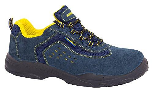 Goodyear G138843C Botas (Piel Serraje), Azul, 43, Set de 2 Piezas