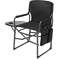 Ubon Director's Folding Camping Chair with Side Table and Pockets
