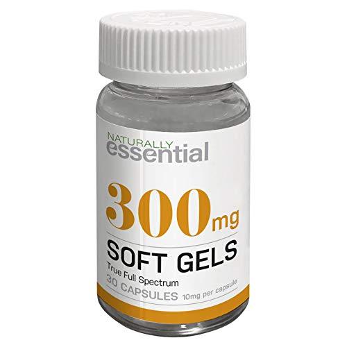 Naturally Essential - Estratto di canapa (vero spettro completo da pianta intera), 30 capsule di gel morbido, 10 mg per capsula