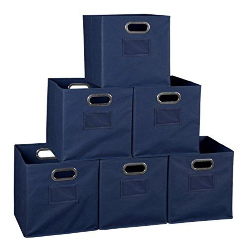 Niche Set of 6 Cubo Foldable Fabric Bins- Blue