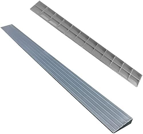 Rampa Rampa de la rampa de bordillo Rampa de triángulo portátil de carga a 2000kg de plástico Rampa de umbral de rampa de interior Pad Pad Mat (Color : Gray)