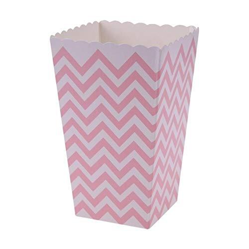 DIAZ 100 stks verjaardagsfeestje geschenken doos gunst snoep traktatie popcorn sanck dozen bruiloft aanbod golf cirkels douche gestreepte kerst, roze