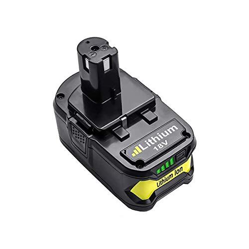 Batería de ion de litio para Ryobi ONE+ RB18L50 RB18L40 RB18L25 BPL-1815 BPL-1820G BPL18151 BPL1820 P104 P105 P107 P108 (5 Ah, 18 V, con indicador LED)