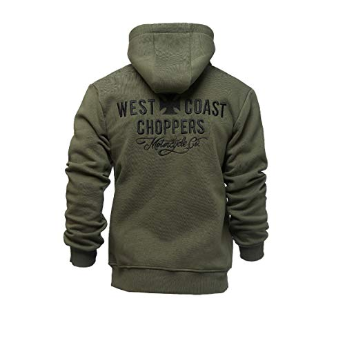 WEST COAST CHOPPERS Motorcycle Co. Zip Hoody Olive Green L