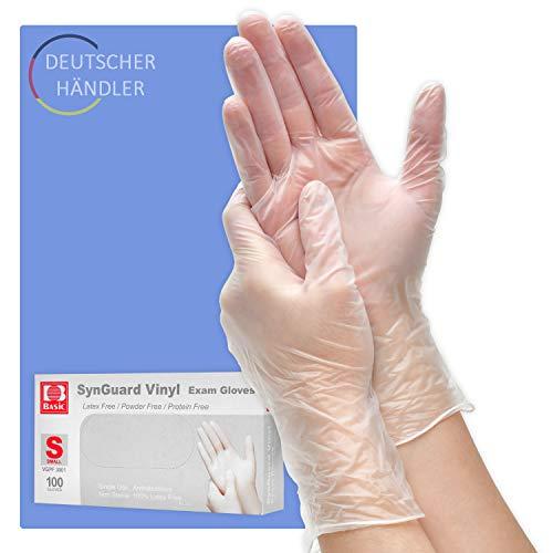 100x Einweghandschuhe Vinyl von Berlin Optix - Angenehmes Tragegefühl Dank extra dünnem Material - Latexfreie Handschuhe im Vorteilspack