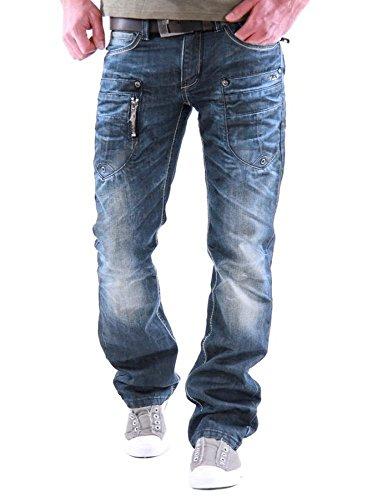 M.O.D. Herren Jeans Danny - Comfort Fit - Blau - Trinidad Blue, Größe:W 34 L 32;Farbe:Trinidat Blue (1750)