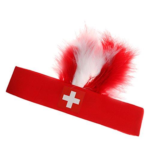 sharprepublic Sport Stirnband Feder Stretch Kopfband Haarmode Frauen Männer Usa - Schweiz
