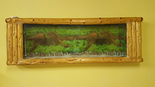 Wandaquarium-Frame Forest Wood 180, Panorama Aquarium – Wall Aquarium - 3