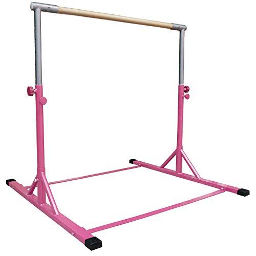 Z ATHLETIC Gymnastics Expandable Kip Bar (Pink)