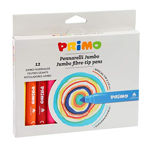 Morocolor PRIMO, marcadores Jumbo 12 marcadores de punta grande marcadores de caja...