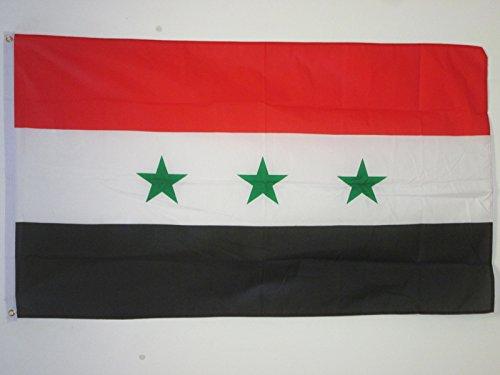 AZ FLAG Flagge IRAK ALT 2004-2008 150x90cm - IRAKISCHE Fahne 90 x 150 cm - flaggen Top Qualität