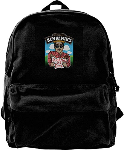 Yuanmeiju Canvas Rucksack Waynes World Benjamins Praline und Dick Flavor Ice Cream Rucksack Fitnessstudio Wandern Laptop Umhängetasche Daypack für Männer Frauen