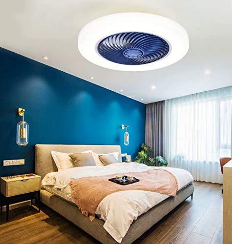 Ventilador de techo LED con iluminación para habitación infantil,luz de ventilador de techo invisible regulable,candelabro de ventilador ultra delgado,iluminación de ventilador,control remoto