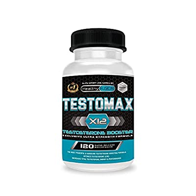TESTOMAX X12 - Testosterone Booster - Effective Sexual Enhancer - Increases Muscle Mass, Energy and Performance - Prevents Fat Accumulation - Source of Energy and Vitality - 120 Caps. by Fersa Ibérica
