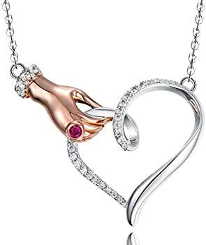 Klurent Christmas Gifts Love Heart Pendant Necklace