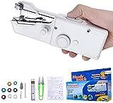 Charminer Mini Nähmaschine, Mini Handnähmaschine Tragbare Elektrische Handheld Nähmaschine Schneller Handlicher Geeignet für Kleidung Stoff Vorhang DIY Haushalt und Reisenutzung