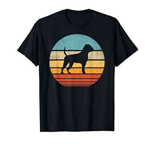 American Bulldog Vintage Silhouette 60s 70s Retro Gifts Dog T-Shirt