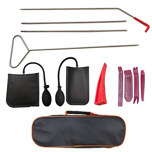 KOSIEJINN Kit de herramientas esenciales para automóvil, agarrador de largo alcance para automóvil con bolsa de aire, cuña sin rastro y kit de emergencia para automóviles, camiones