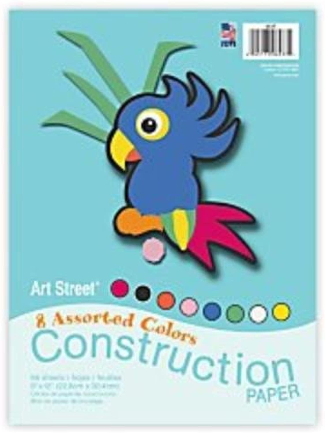 Art Street(R) Construction Paper, 9In. X 12In., Assorted colors