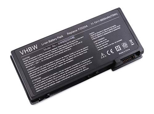 vhbw Akku passend fur HP Omnibook Pavilion N5425 F3924H XE3 GF F3945W Pavilion XH176 Laptop Notebook Li Ion 6600mAh 111V 7326Wh schwarz