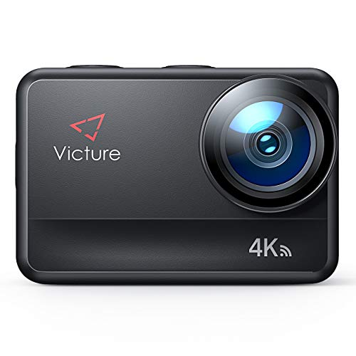 Victure 4K 60FPS AC940 Action Camera 8M Bare Machine Waterproof 20MP Sports Camera with Touch Screen Vlog Camera EIS Remote Control 131 Feet Underwater Camcorder with 1350mAh Batteries and Accessories