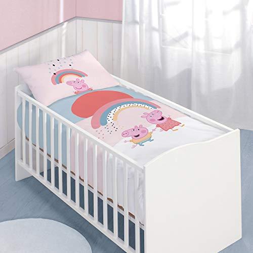 Peppa Pig Wutz Baby Bettwäsche-Set 100/135 + 40/60 cm Biber Flanell