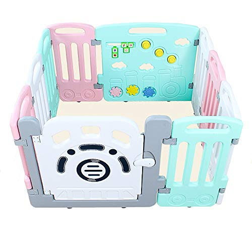 Affordable Playpen AGYH Foldable Baby Safety Toddler Crawling Shatter-Resistant Guardrail Children I...