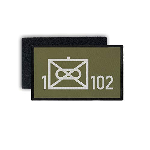 Copytec Patch 1 PzGrenBtl 102 Panzergrenadier Bataillon Bayreuth Wappen 9,8x6cm #30456