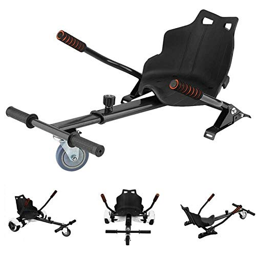 ApexOne Adjustable Hoverkart with Seat for 6.5'', 8'' and 10'' Self Balancing Electric Scooter, Gokart Attachment [Black]