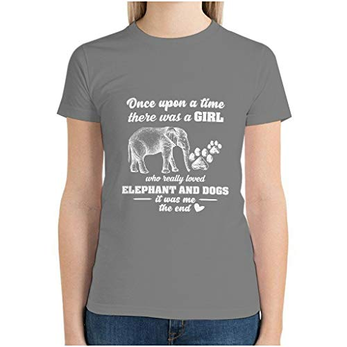 Girl Love Elephant 3D Printed Sportswear T-Shirt for Mom Gr. XXL, grau
