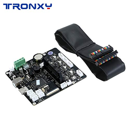 Mute Mainboard Control Board Mother Board DIY Self Assembly with 30P Connecting Cable Compatible with X5SA Series/D01/XY-2PRO 3D Printer