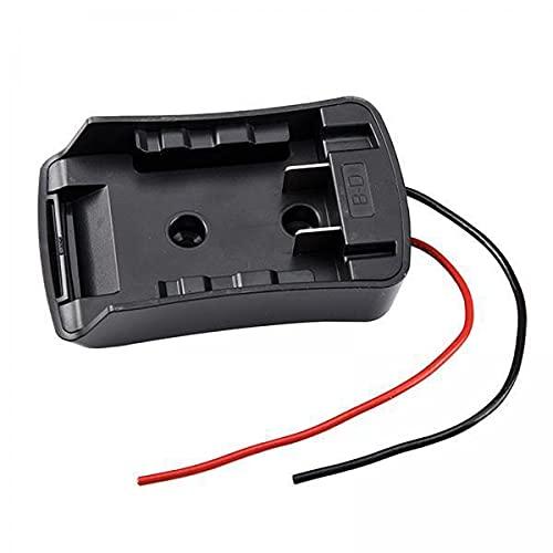 Fenteer 2xAdaptador de Batería para Black And Decker 18V Conector de Alimentación para Base de Batería Rc Car