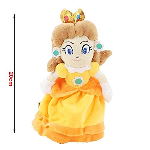 N/D Plush Toys Super Mario Bros Yoshi Boo Ghost Long Tongue Shy Guy Toadette Peach Toad Dry Bones Soft Stuffed Doll Kids Gift Toys 20Cm