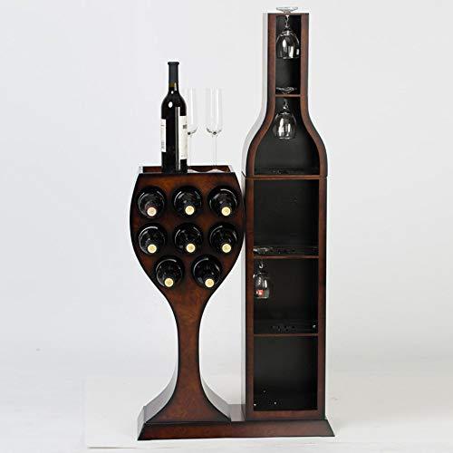 JPL Estantes para vino Estante para vino Madera sólida Creatividad Montaje en el hogar Decoración Restaurante