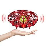 UTTORA UFO Mini Drone para Niños Hand Control RC Inducción Infrarroja de Helicopteros Teledirigidos Juguetes UFO...