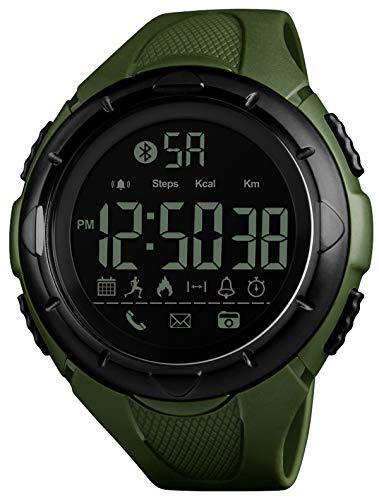 Armbanduhr Männer Fitness Uhr Schrittzähler Kalorien Digital Sportuhr IP68 Wasserdicht 5 ATM LED Wecker Stoppuhr Datum Kalender