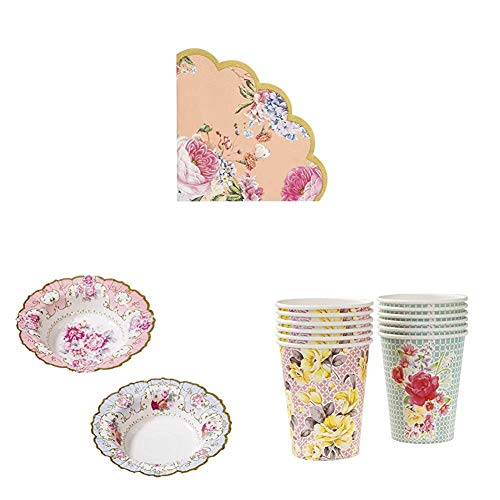Talking Tables Truly Scrumptious Afternoon Tea Party Party Napkins, Bowls , Paper Cups