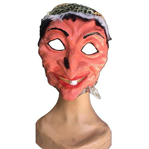 Baba jaga sorcière avec foulard de Théâtre Masque