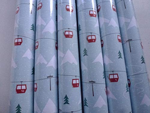199068, 4 Rollen 200 x 70 cm STEWO Weihnachts Geschenkpapier NJAL MINT, höchste Qualität, EXTRA REISSFEST, Weihnachtsgeschenkpapier, Weihnachten Geschenkpapier