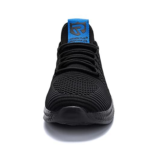 LARNMERN PLUS Zapatillas Hombre Transpirables Running Asfalto Zapatos Azul 45