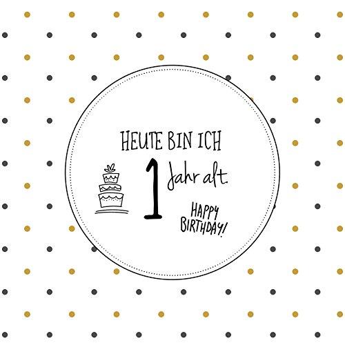 inkl sweetrustic 27 Premium Baby Meilenstein Karten f/ür 1 hochwertiger Geschenk Verpackung Liebe Geschenk Idee zur Geburt oder Babyparty Lebensjahr