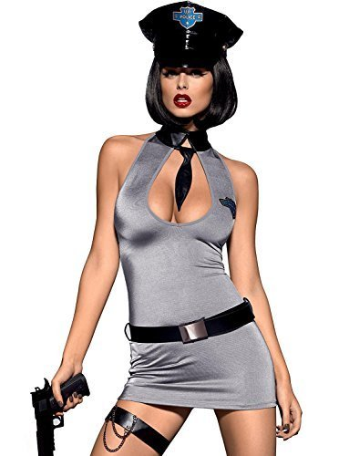 Obsessive Police Dress Costume,Size 2XL,Grey by Obsessive