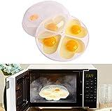 WIKEA To Go Microondas Steam Egg Poacher Maker para hasta 4 Huevos