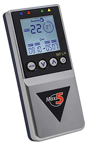 TESMED Max 5 TENS + EMS Duo Elektrostimulationsgerät mit 4 Kanälen, für den Muskelaufbau inkl. 12Elektroden
