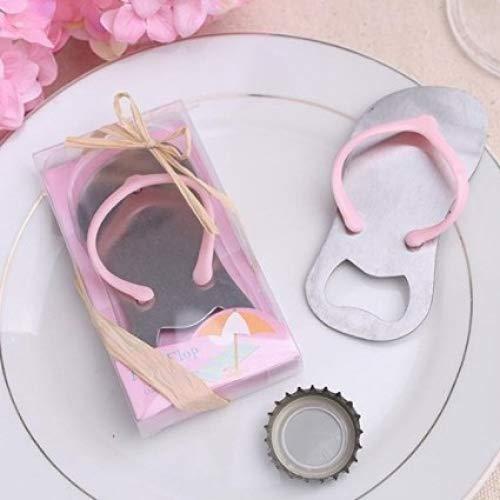 Gift You 24 pcs Special pop The Top Flip-Flop Bottle Opener for Wedding Favor (Pink)