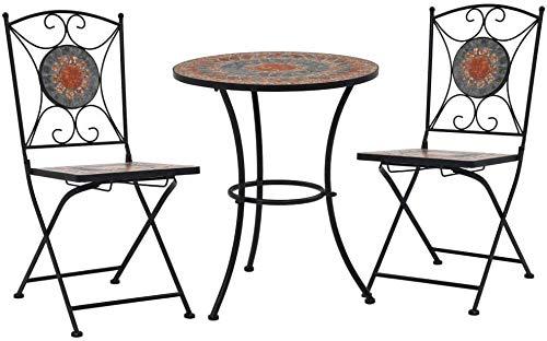 3 trajes, jardín paquete de muebles, sillas plegables mesa y terraza o balcón,A